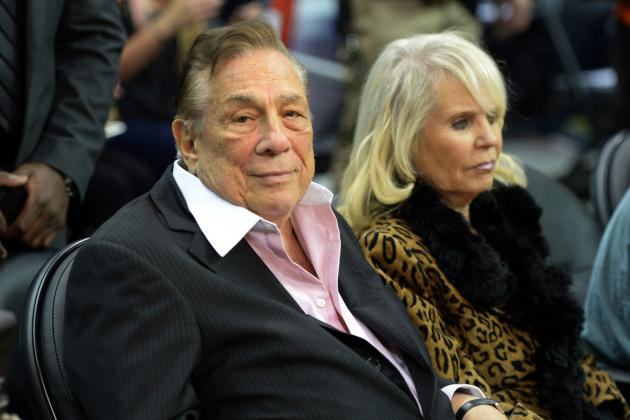 Donald Sterling with friendly, enigmatic, mysterious, Wife Rochelle Stein