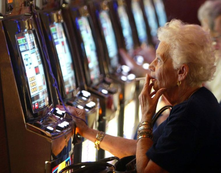 old lady gambling